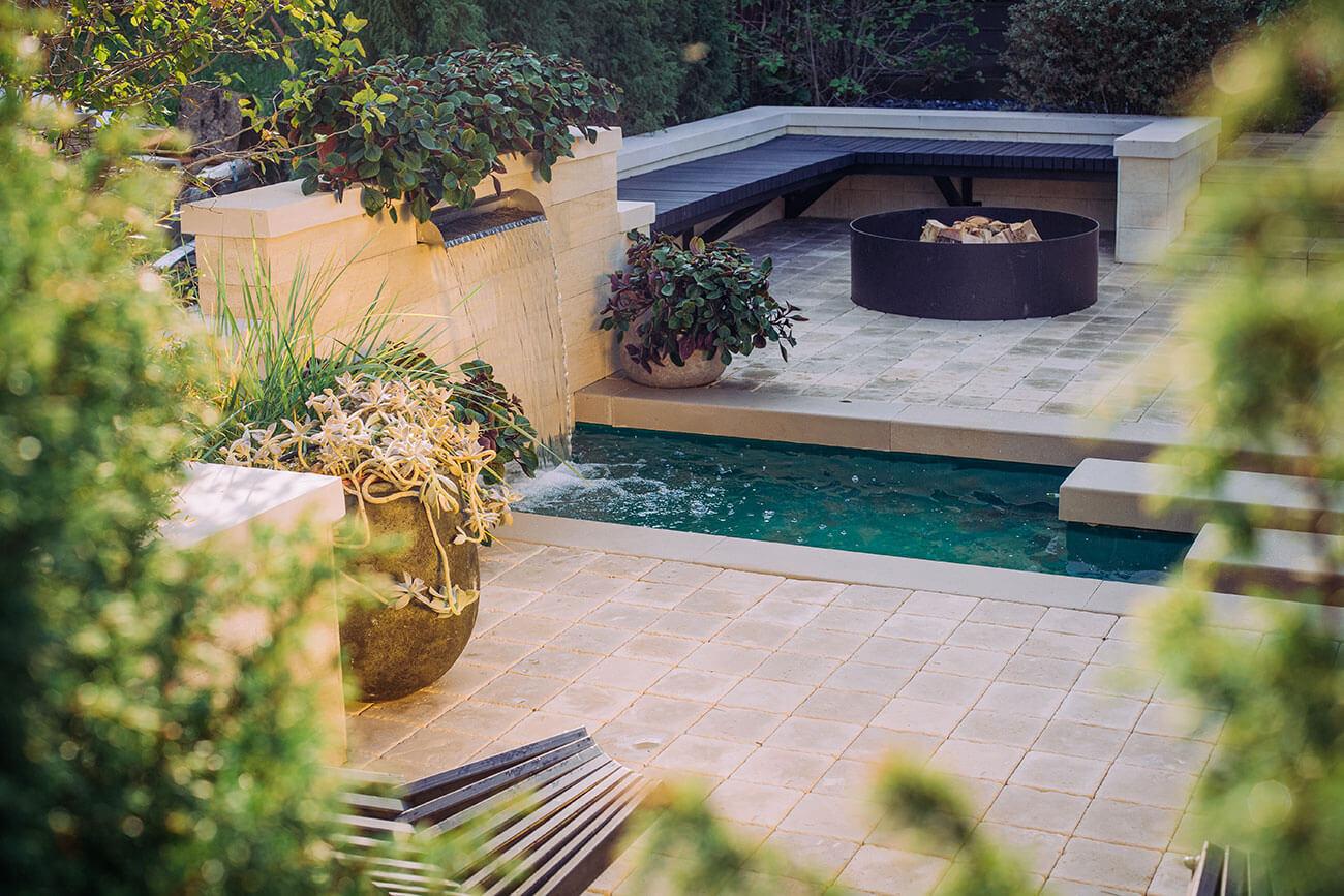 Водный сад для таунхауса