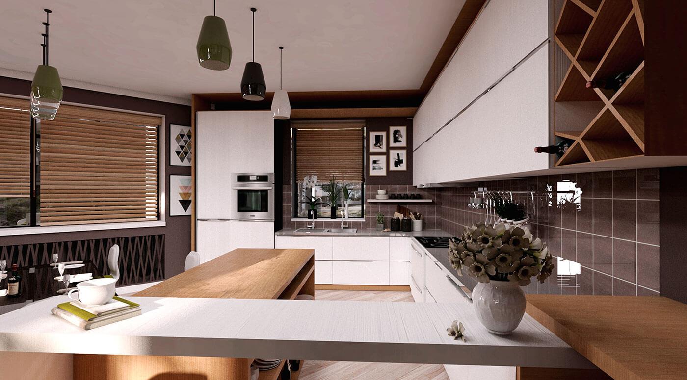 Проект интерьера жилого дома