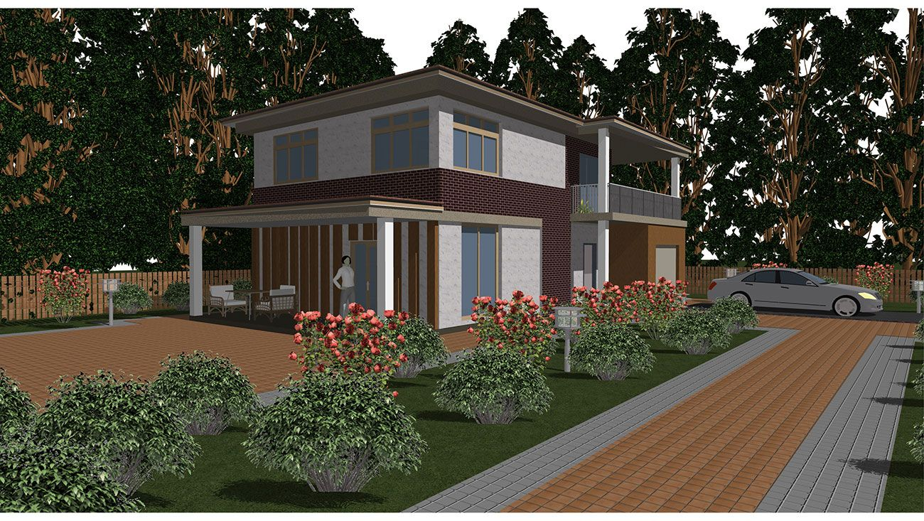 Проект загородного дома «Катрин»